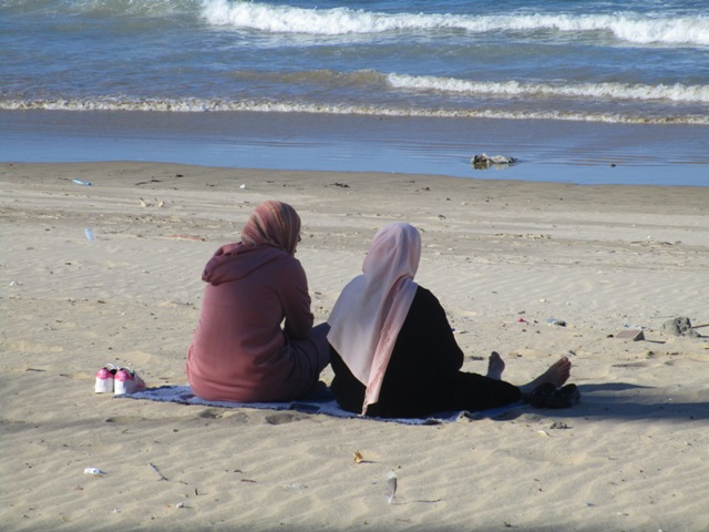 Women on the Beach, Tangier, Morocco