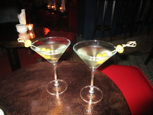 Martinis at El Morocco Club Restaurant
