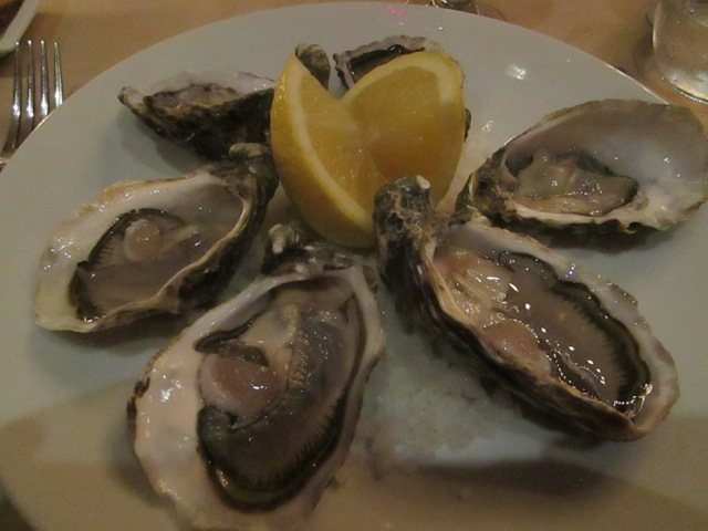 Oysters at El Morocco Club Restaurant