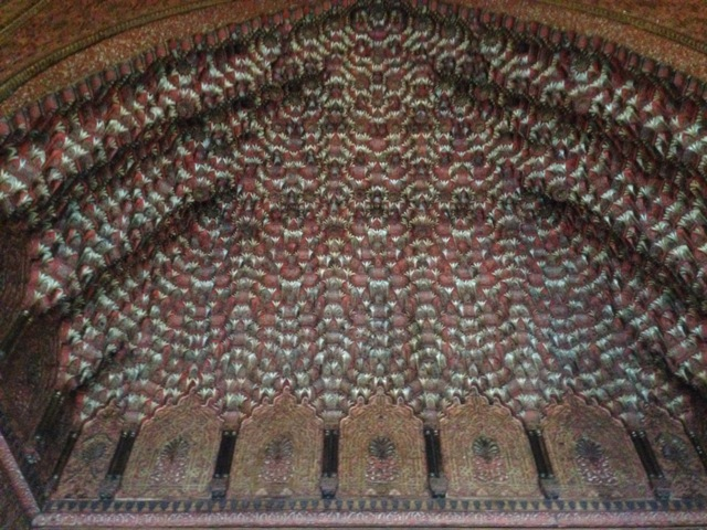 Wooden carved ceiling